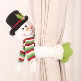 Loskii Noel Süslemeleri Küçük Yaratıcı Perde Toka Karikatür Yaşlı Adam Kardan Adam Elk Perde Süslemeleri