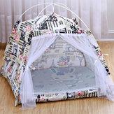 तह पालतू कुत्ता बिल्ली पिल्ला हाउस बिस्तर सो नींद तम्बू केनेल Teepee चटाई पैड तह बिस्तर चटाई