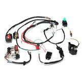 50cc 70cc 90cc 110cc 125cc ATV Ignition Coil Electric Complete Wiring Harness Assembly