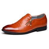 Męskie Biznesowe skórzane Soft Formalne buty