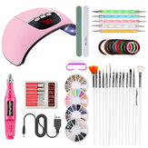 Nail Lamp Sander Nail File Painting Pen Nail Decoration Set
