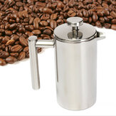 800/1000ml Stainless Steel Double-deck Cafetiere Filter Tea Coffee Maker Water Bottle