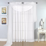 Nordic Style Pure White Voile Window Decoraions Yarn Curtains Home Decor Drape Panel Sheer Door Curtain