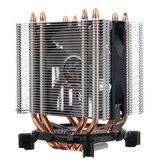 Kleurrijke 3-pins verlichte 3-pins ventilator met één koperen buis Dubbele toren CPU-koelventilator Koeler Heatsink voor Intel AMD