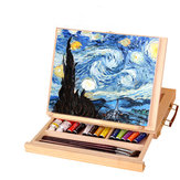 Multifunction Paintings Easel Artist Desk Easel Portable Miniature Desk Light Weight Folding Easel For Storage Or During Trips