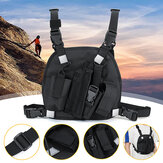 Nylon Radio Walkie Talkie Chest Pocket Harness Bags Backpack Holster Vest Pack