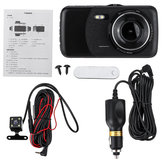 4 Inch HD Dual Lens 1080P Vehicle Car Dash Cam Video Camera Recorder DVR G-Sensor