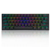 FEKER 61 Tombol Keyboard Gaming Mekanik 60% NKRO bluetooth 5.0 Type-C Gateron Switch PBT Double Shot Keycap Keyboard RGB
