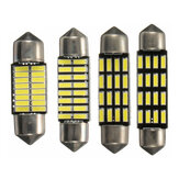 2PCS 31mm / 36mm / 39mm / 42mm 4014 SMD LED Coche Luces de lectura interiores Festoon Dome Bombillas CANBUS Error Free White