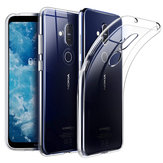 BAKEEY Transparent Ultra-thin Shockproof Soft TPU Protective Case for NOKIA X7 / NOKIA 8.1