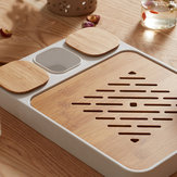 CHENGSHE Bamboo Kung Fu Tea Set Water Storage Tea Tray from