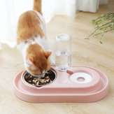 Automatic Pet Dog Cat Drink Water Dispenser Feeder Food Bowl Dish