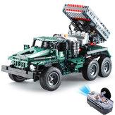 CaDA C61001 C61002 1/20 2.4G DIY Yapı Taşı BM21 Roketatar RC Araba M1A2 Tankı Batarya olmadan