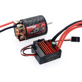 SURPASS HOBBY 550 Brush RC Car Motor 5 Slot+BCD 80A ESC For 1/10 Vehicle Parts