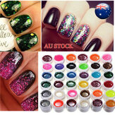 36 اللون Glitter Powder UV Gel Extender Nail Art Design Set