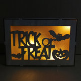 Loskii JM01501 Halloween Trick Or Treat Pattern LED Light Wall Lamp For Halloween Decorations Party