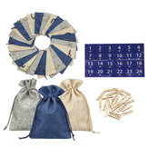 24pcs Hessian Gift Bag with drawstrings for Christmas