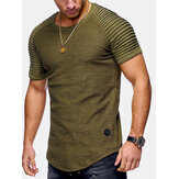 Men's Cotton Slim Breathable Short Sleeve Casual T-shirts