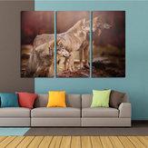 Miico El Boyalı Üç Kombinasyon Dekoratif Resim Sergisi Üç Köpekler Duvar Sanatı Ev Dekorasyon Için