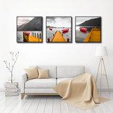 Original Miico pintado a mano tres combinaciones de pinturas decorativas rojo barco arte de pared para decoración del hogar
