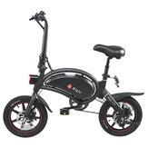 [Direto da UE] DYU D3 + 10Ah 36V 240W Ciclomotor elétrico Bike14inch 25km / h Velocidade máxima 70km Alcance de quilometragem Sistema de freio duplo inteligente Carga máxima 120kg