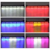 27 Pollici 24 LED Stroboscopico lampeggiante lampada con barra luminosa di emergenza multicolore