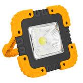 Przenośna 50W 1000LM Solar LED Lampa robocza COB Lampa kempingowa USB Akumulator Powódź Lampa punktowa Światło ręczne