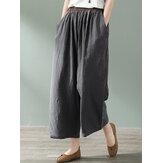 Cintura elástica informal Pantalones