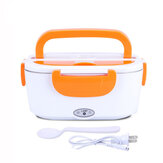 1.5L Electric Lunch Box Car Plug-in Heating Insulated Food Warmer Container Outdoor Travel