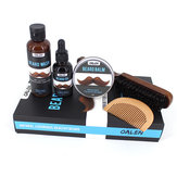 Grooming Kit Growth Beard Balm Oil Comb Brush Wash