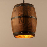 Lámpara colgante de barril de madera Colgantes de luz de techo Lámpara Barra de iluminación Cafe Light