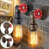 Lámpara de pared de forma de tubo de agua de hierro retro industrial vintage Lámpara aplique de luz