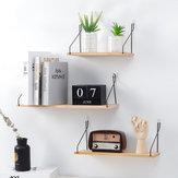 Suporte de parede de madeira sólida suporte de prateleira placa de partição de ferro quarto tv pendurado na parede prateleira de armazenamento rack para casa e decoração da sala de estar