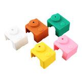 5Pcs PT100 V6 Etui en silicone pour blocs de chauffage Hotend orange / rose / café / vert / blanc 5 couleurs pour imprimante 3D
