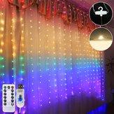 1,5M * 2M Wodoodporne tęczowe światło LED LED z kurtyną świetlną z pilotem do wewnątrz na wesele