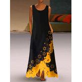 Dantel Patchwork Kolsuz Kadın Maxi Elbise