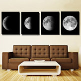 4 Pcs Impressions Sur Toile Mur Art Peintures Photos Home Office Décor Abstrait Lune