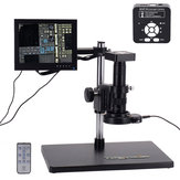 HAYEAR 41MP HD USB Digital Industry Video Microscope Camera Set com Big Boom Suporte de mesa estéreo