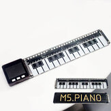 Acrylic Electronic Piano Board with RGB LED Light TS20 I2C STEM M5Stack® for Arduino - products that work with official Arduino boards