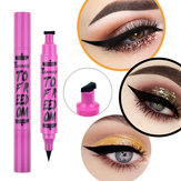 2 in 1 Double Marker Triangle Seal Waterproof Eyeliner