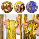 Metallic Foil Fringe Rain Tassel Curtain Decor Birthday Wedding Party  Decorations