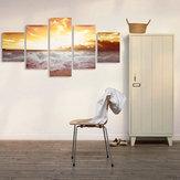 5Pcs Frameless Modern Óleo Pinturas Paisagem Art Canvas Decor Home Wall Decor
