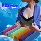 KCASA 30x90cm 16℃ Microfiber Portable Quick-drying Sports Towel Travel Jogger Cloth Camping Swimming Gym Washcloth