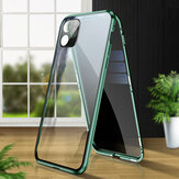 Bakeey 2 in 1 Anti-peeping Magnetic 360º Full Cover Double-sided Tempered Glass Flip Protective Case with Lens Protector Ring for iPhone 11 Pro 5.8 inch
