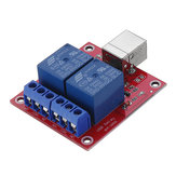 3pcs 2 Channel 5V HID Driverless USB Relay USB Control Switch Computer Control Switch PC Intelligent Control Relay Module