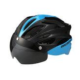 Óculos de capacete de bicicleta Capacete de equitação de estrada