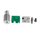 Yükseltildi Ekstruder Hotend HeatSink Kit PT100 V6 1.75mm Prusa i3 3D Yazıcı Için Isıtma Bloğu
