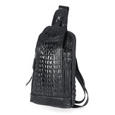 Herren New Leather Crocodile Pattern Brusttasche Sling Backpack Crossbody Taschen