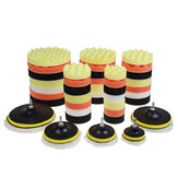 10pcs 3/4/5/6/7 Inch Buffing Waxing Polishing Sponge Pads Kit Set for Car Polisher Drill