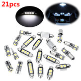 21pcs White Interior LED Car Lights Bulb Kit for BMW 5 Series M5 E60 E61 (04-10)